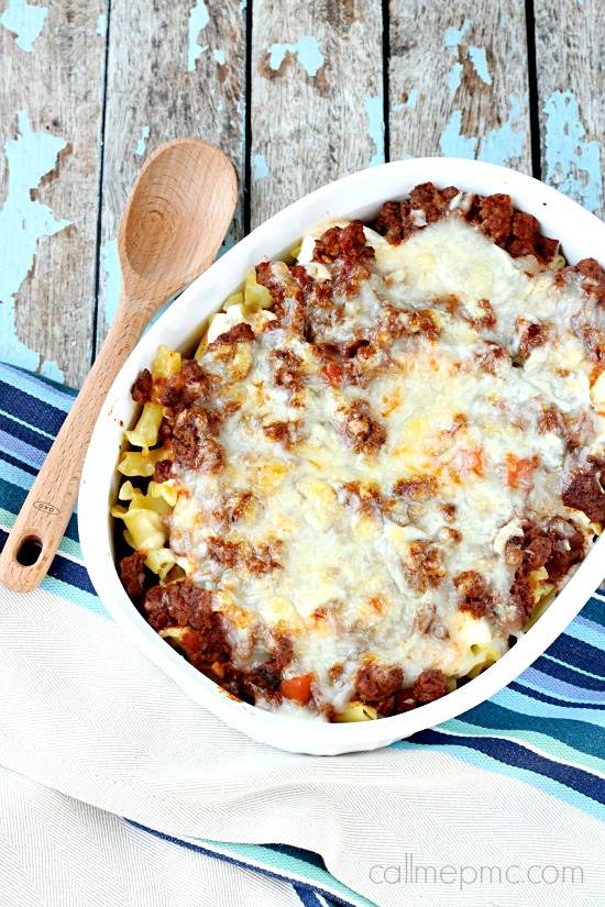 3 Cheese Beef Pasta Bake