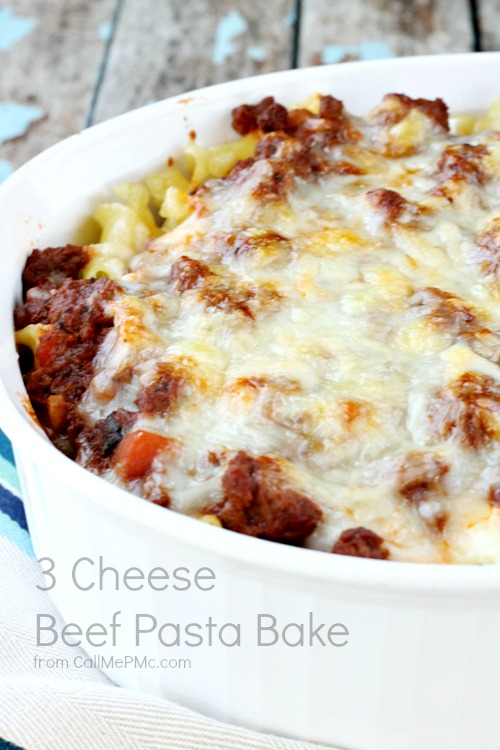 3 Cheese Beef Pasta Bake recipe