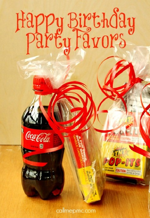 Happy Birthday Party Favors