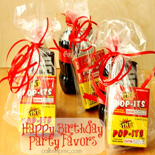 Happy Birthday Party Favors boys