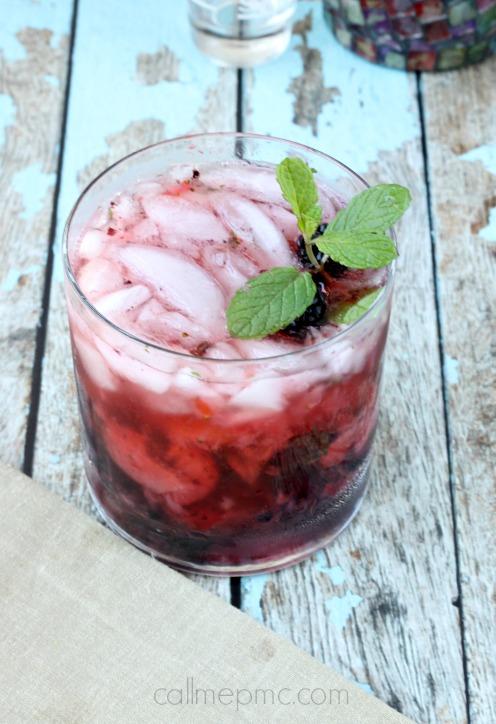 Strawberry Blackberry Vodka Mojito