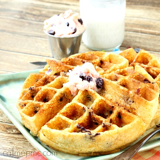 Cornmeal Blueberry Waffles