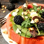 Feta Almond Watermelon Salad
