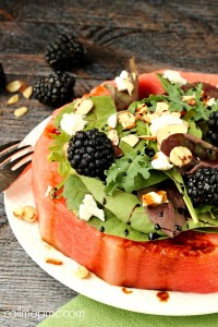 Feta Almond Watermelon Salad
