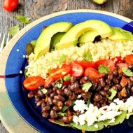 Black Bean Tomato Quinoa Salad with Texas Vinaigrette