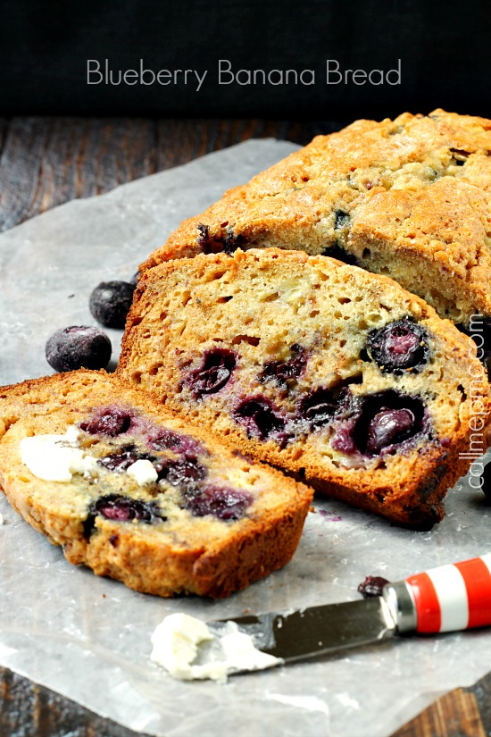 Blueberry Banana Bread with Almond Milk label