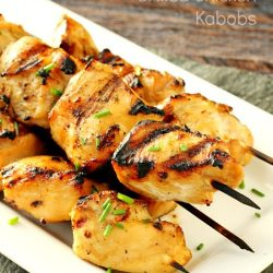 Bourbon Marinated Grilled Chicken Kabobs