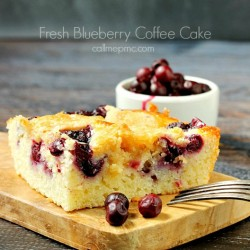 Fresh Blueberry Coffee Cake label