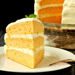 Orange Cream Cake | Cool Whip Pudding Frosting