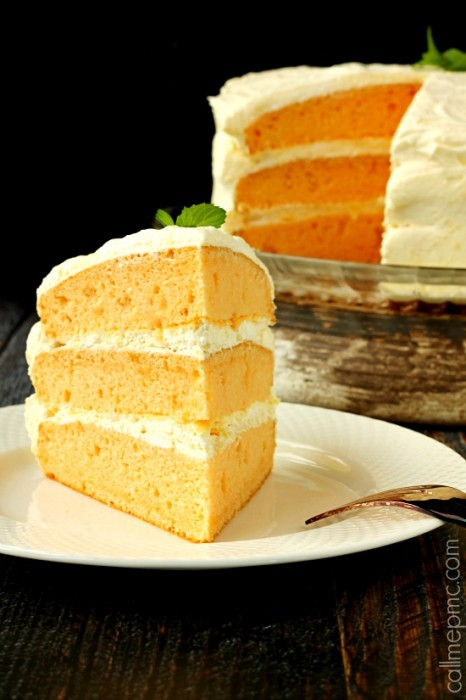 Orange Cream Cake | Cool Whip Pudding Frosting » Call Me PMc