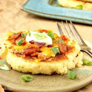 Mashed Parmesan Potato Cakes