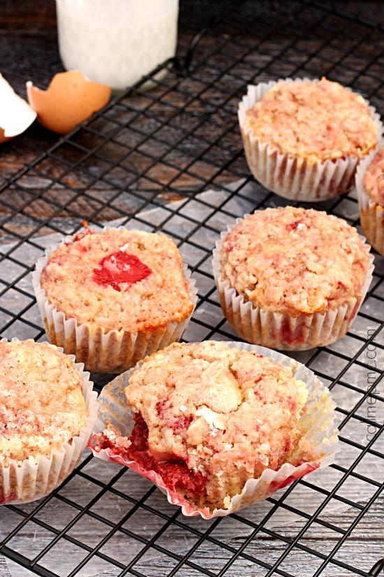 Almond Milk Coconut Oil Strawberry Muffins