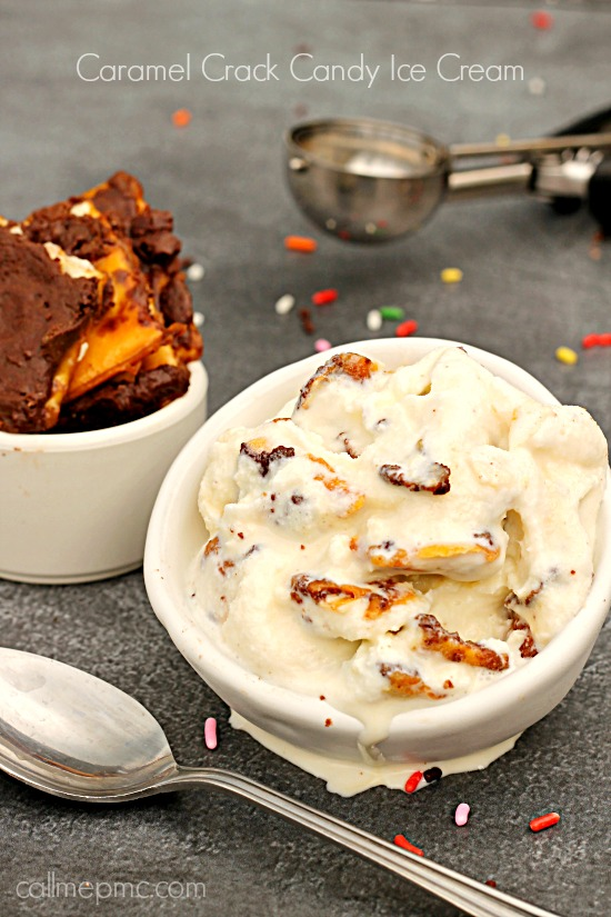 Caramel Crack Candy Ice Cream