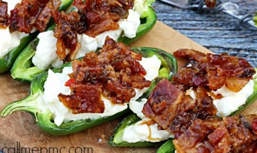 Grilled Stuffed Jalapeno Peppers with Brown Sugar Bacon