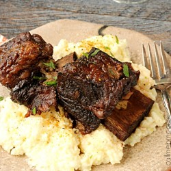 Red Wine Pomegranate Slow Cooker Short Ribs fb