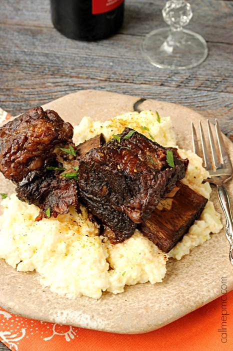 Red Wine Pomegranate Slow Cooker short Ribs wm