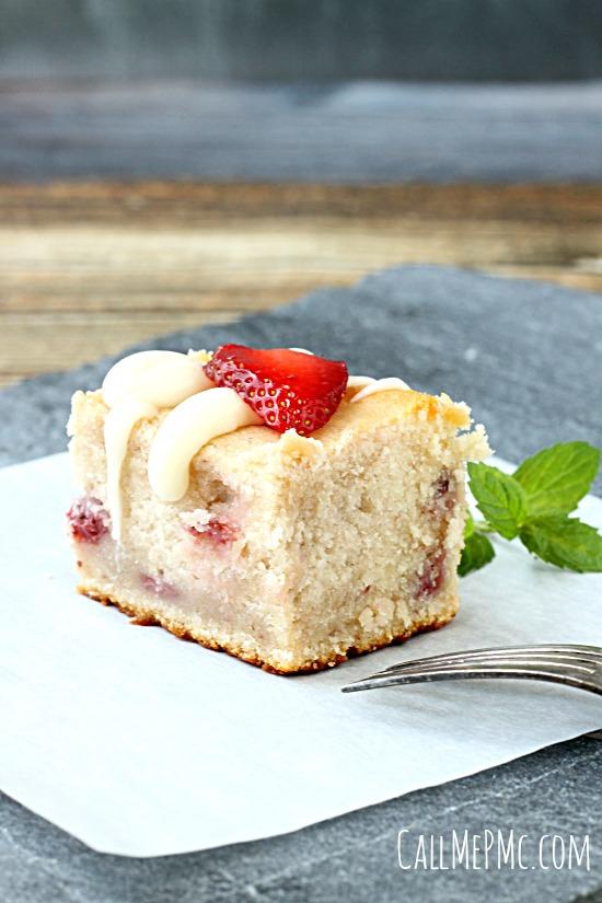 Fresh Strawberry Greek Yogurt Cake