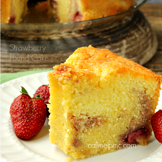 Strawberry Pound Cake fb