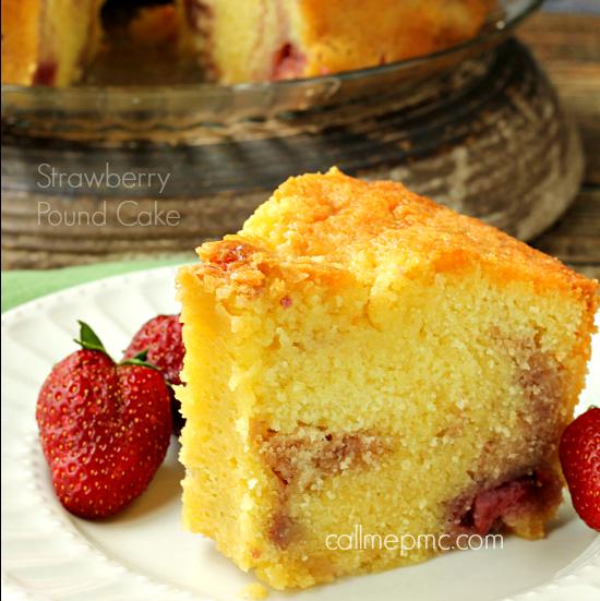 Strawberry Pound Cake fb