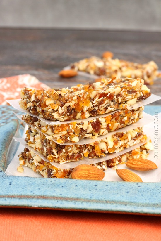 Apricot Almond Energy Bars Recipe
