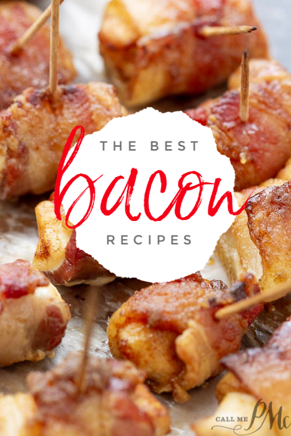 Mouthwatering Bacon Recipes - The great thing about bacon is that it isn't just for breakfast any longer. #bacon #recipes #roundup via @pmctunejones