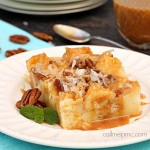 Caramel Coconut Caramel Cream Bread Pudding