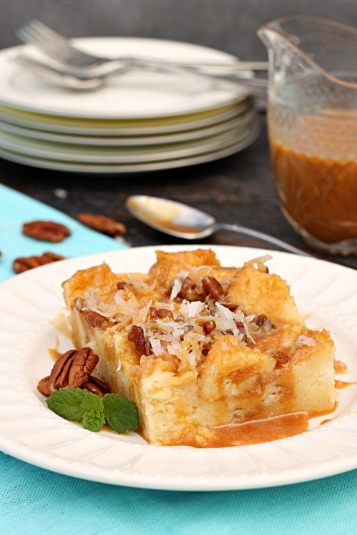 Caramel-Coconut-Caramel-Cream-Bread-Pudding
