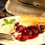 Classic Cherry Pie with Cinnamon Infused Coconut Oil Pie Crust