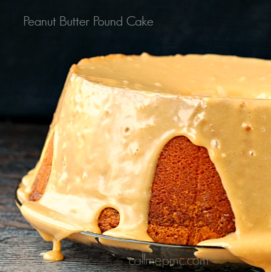 recipe. Peanut Butter Pound Cake with Peanut Butter Glaze, peanut butter lovers rejoice! This Pound Cake is a deliciously, mouth-watering treat!
