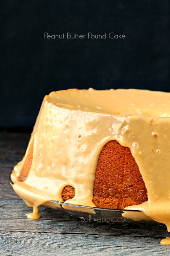 Pound Cake. peanut butter. Peanut Butter Pound Cake with Peanut Butter Glaze, peanut butter lovers rejoice! This Pound Cake is a deliciously, mouth-watering treat!