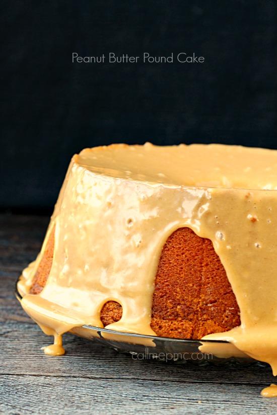 glaze chocolate chip peanut butter pound cake with peanut butter glaze ...