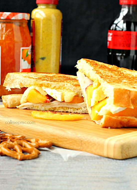 Peach Turkey Grilled Cheese