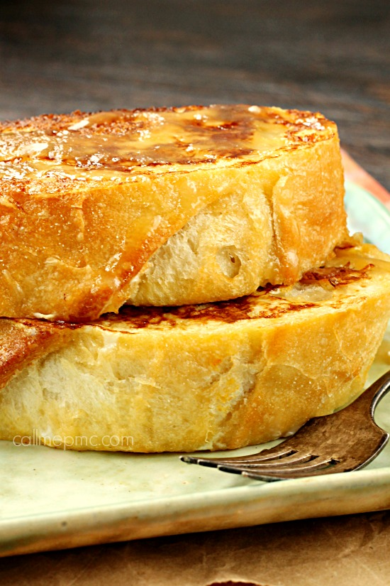 Pumpkin Cream Cheese Stuffed French Toast a pillow of buttery bread ...