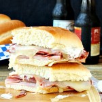 Salami Pepperoni Ham Ranch Melt Sandwich