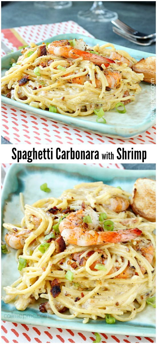 Shrimp Spaghetti Carbonara Shrimp