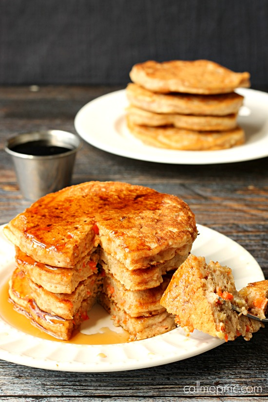 Carrot Cake Pancakes combining two breakfast favorites in this delicious recipe