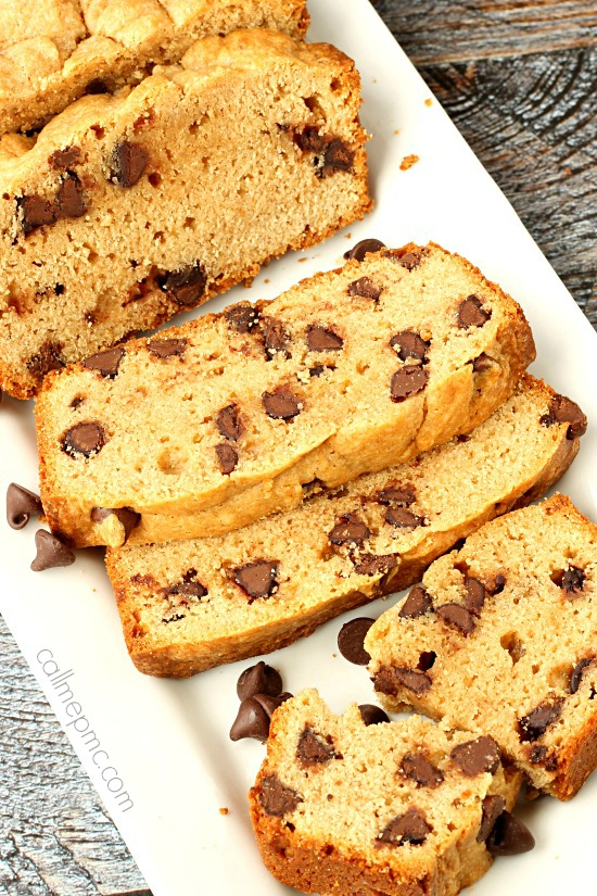 Chocolate Chip Cinnamon Peanut Butter Bread