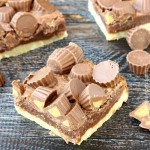Chocolate Peanut Butter Shortbread Bars