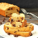 Chocolate chip cinnamon peanut butter bread