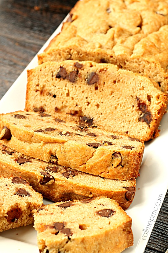 Cinnamon Peanut Butter and Chocolate Chip Bread