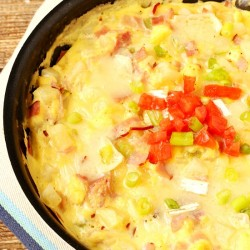 Ham Potato cheese Frittata
