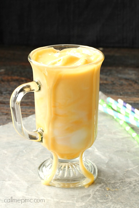 Orange milk ice cream float drink