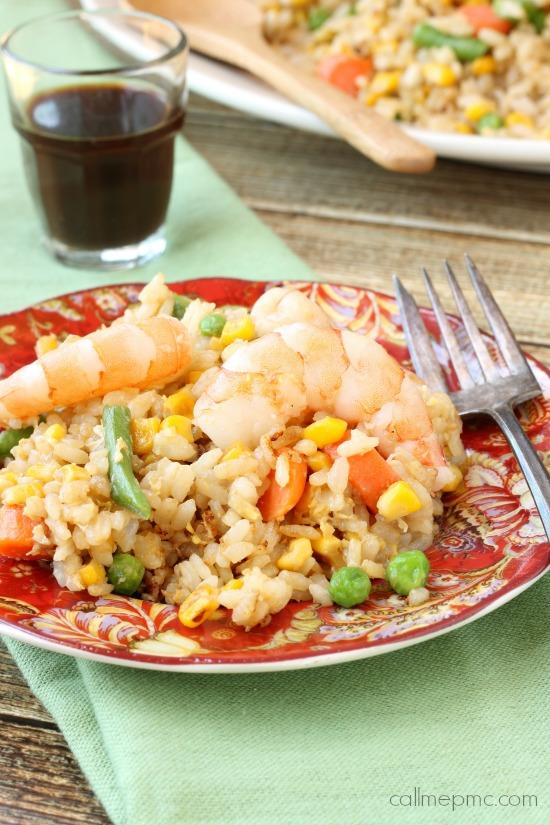 Shrimp Vegetable Fried Rice