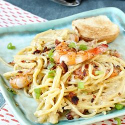 Spaghetti Carbonara Shrimp