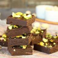 Five Minute Dark Chocolate Fudge with Pistachios