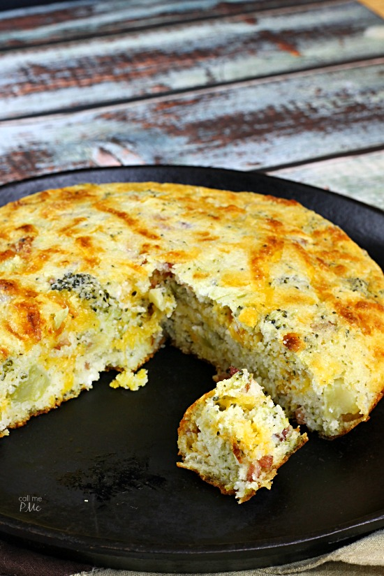 Comfort food at it's best! My Bacon Broccoli Cheese Buttermilk Cornbread is a must-try recipe!
