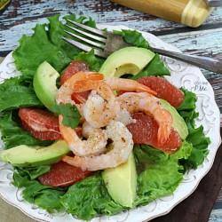 Grapefruit Avocado Shrimp Salad