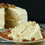 Italian Cream Cake Recipe with Buttercream Frosting f