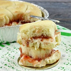 Sister Schubert Strawberry Cream Pull Apart Bread