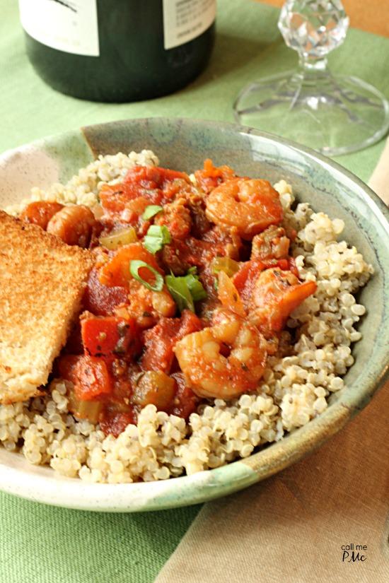 Spicy Shrimp Jambalaya Quinoa Recipe